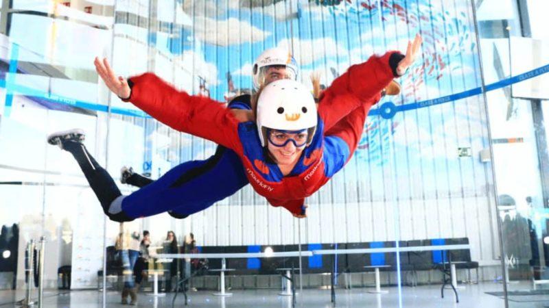 Enjoy flying air tunnel in Madrid with dreampeaks
