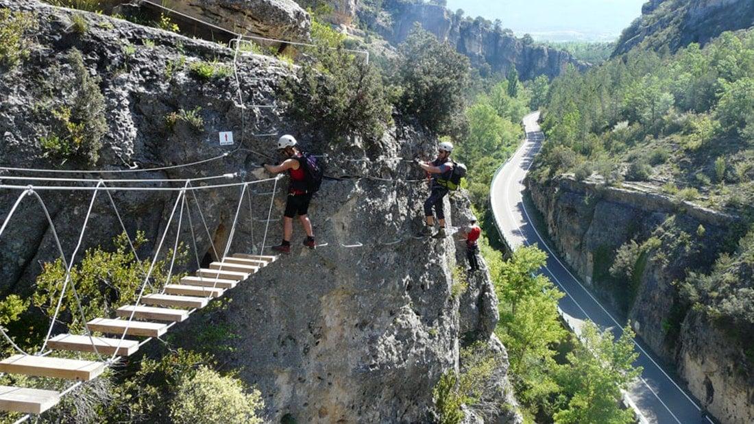 Via Ferrata de Priego en Cuenca con Dreampeaks