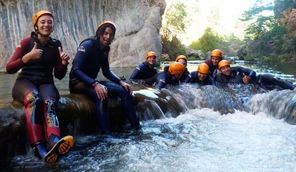 Barranquismo en Cuenca. Barranco del Júcar con Dreampeaks