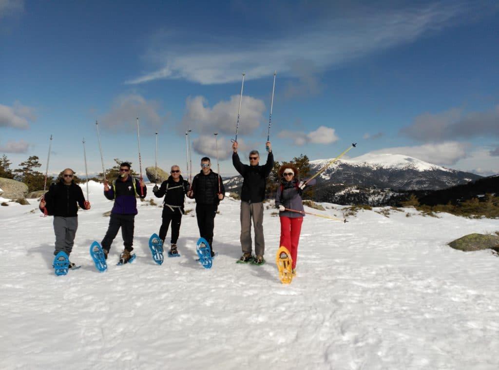 Salidas y excursiones de Raquetas de Nieve en Madrid con Dreampeaks