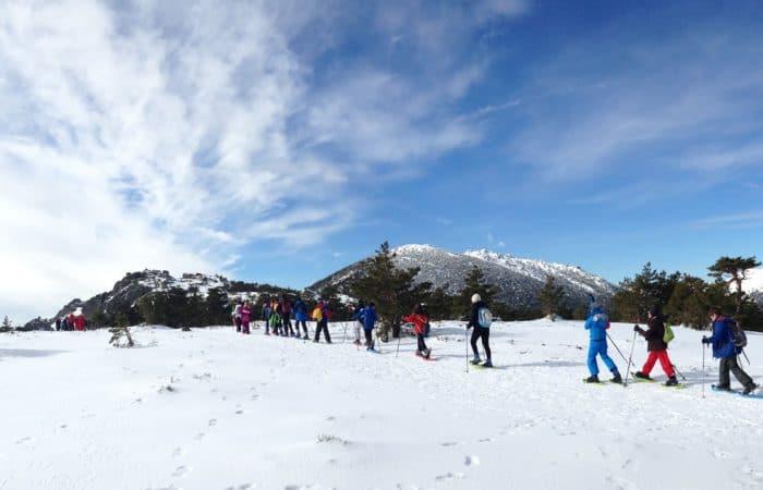 Excursiones con raquetas de nieve para colegios en Madrid con Dreampeaks