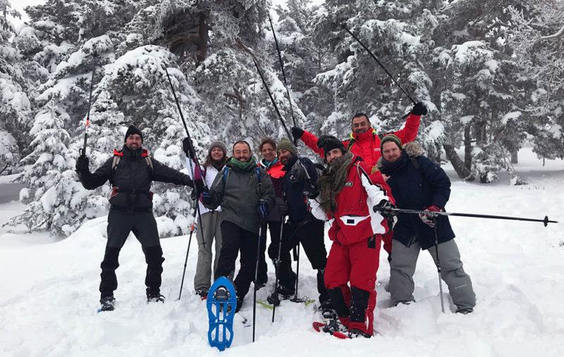 Excursiones con raquetas de Nieve en madrid con Dreampeaks.